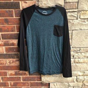 Dikotomy Blue Black Long Sleeved Jersey Shirt XL